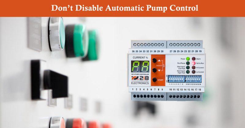 Pump Controller in manual